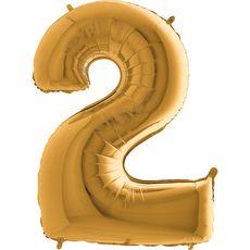 Balón 2 Dvojka zlatá 100 cm