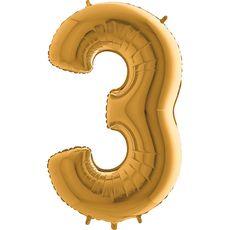 Balón 3 Trojka zlatá 100 cm
