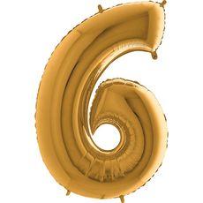 Balón 6 Šestka zlatá 100 cm