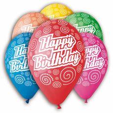 Balón Happy Birthday 30 cm 100 ks