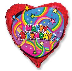 Balón Happy Birthday hviezdy 45 cm