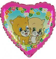 Balón Mačky a Kvety 20 cm