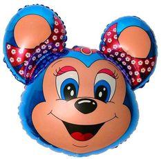 Balón Minnie myš modrá 77 cm