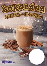 Plagát cenník Horúca čokoláda A4