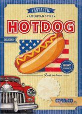 Plagát cenník Hot Dog Americký A4