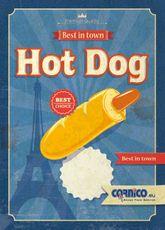 Plagát cenník Hot Dog Francúzsky A4