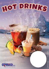 Plagát cenník Hot Drinks A4