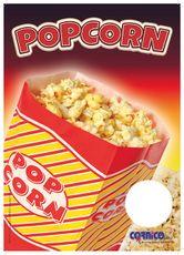 Plagát cenník Popcorn Vrecko A4