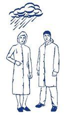 Plášť pre návštevy jednorázový 10 ks