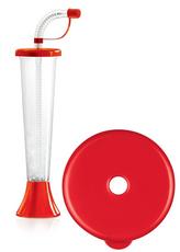 "Pohár 250 ml ""F"" Plain červený 108 ks"