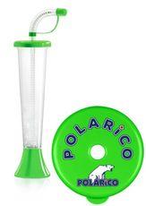 """Pohár 250 ml """"F"""" POLARiCO Plain zelený 108 ks"""