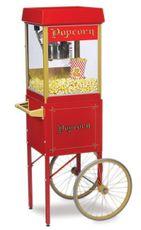 Prenájom Popcorn stroj 4 oz s vozíkom