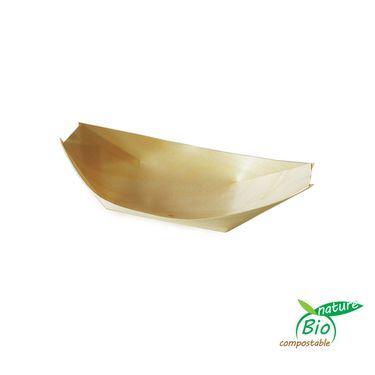 Fingerfood miska drevená lodička 100 ks