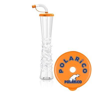 Pohár 500 ml Plain POLARiCO oranžový 54 ks